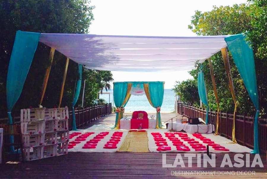 Beautiful gazebo wedding venue in Barcelo Maya mexico by latin asia one stop solution