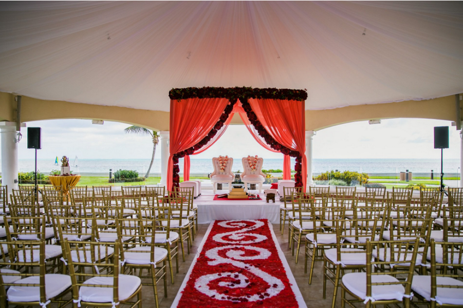 decor package for hindu destination weddings in cancun