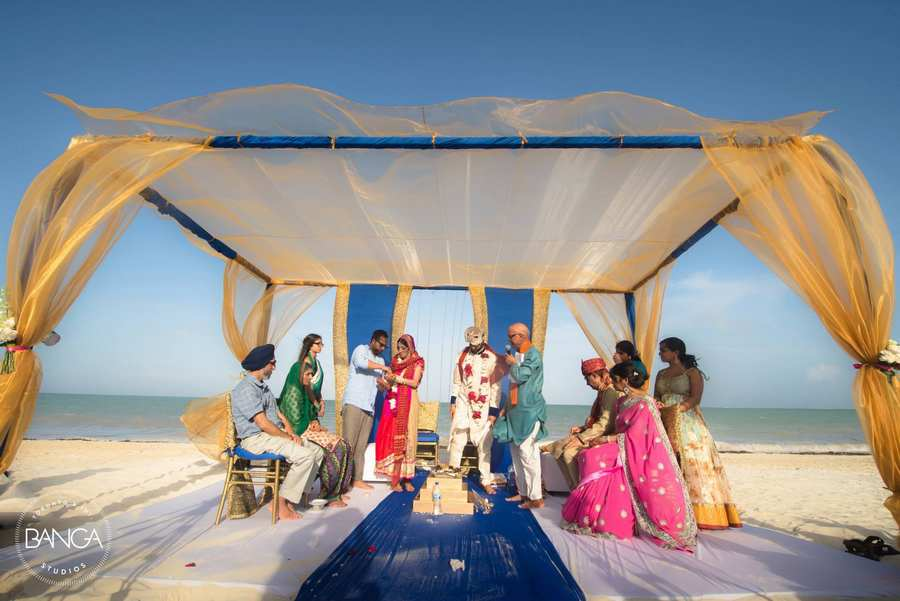 mandap packages for indian weddings on the beach in mexico
