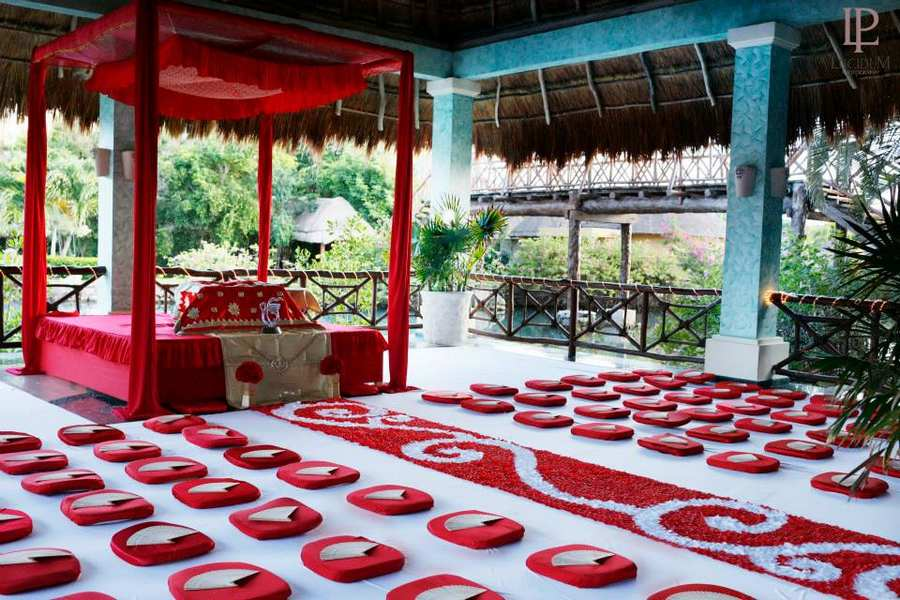 beach sikh wedding ceremony package set up riviera maya mexico by latin asia