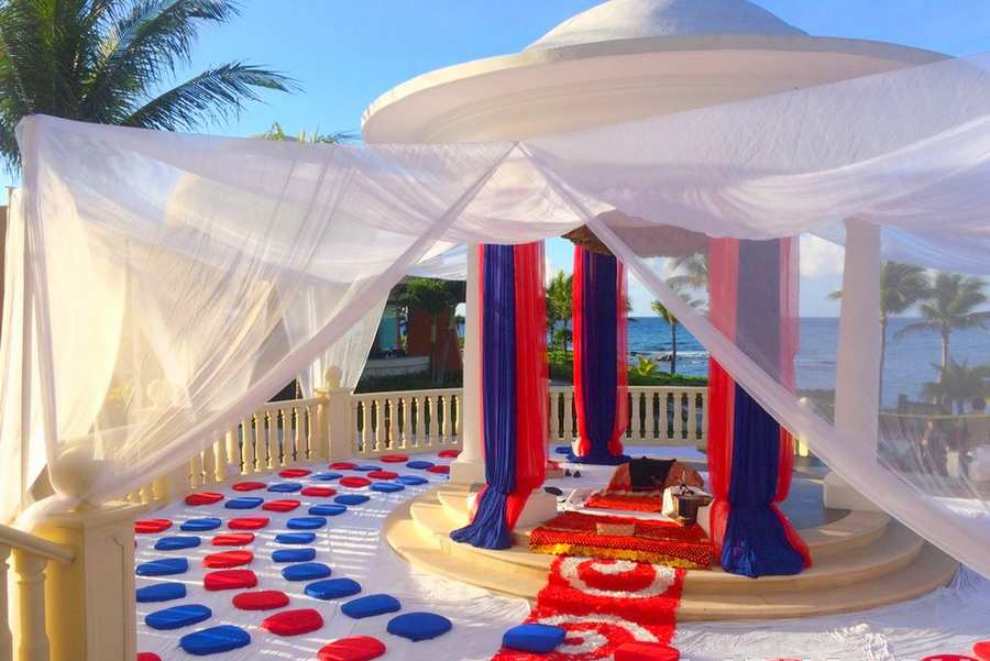beach south asian destination wedding ceremony by latin asia one stop solution