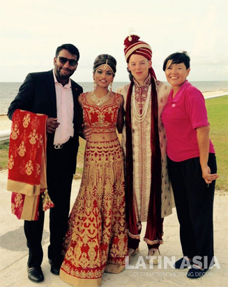 destination indian wedding couple in Mexico by Latin Asia One Stop Solution
