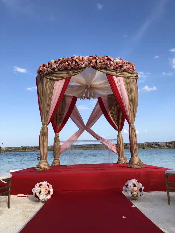 hindu beach mandap wedding ceremony packages cancun mexico by latin asia one stop solution