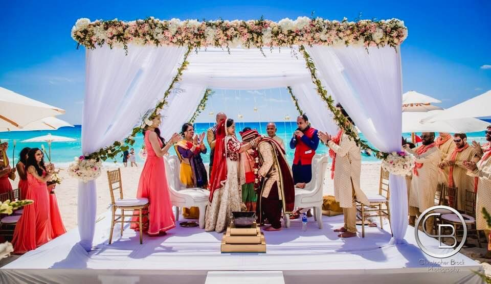 beach hindu wedding ceremony package cancun mexico by latin asia