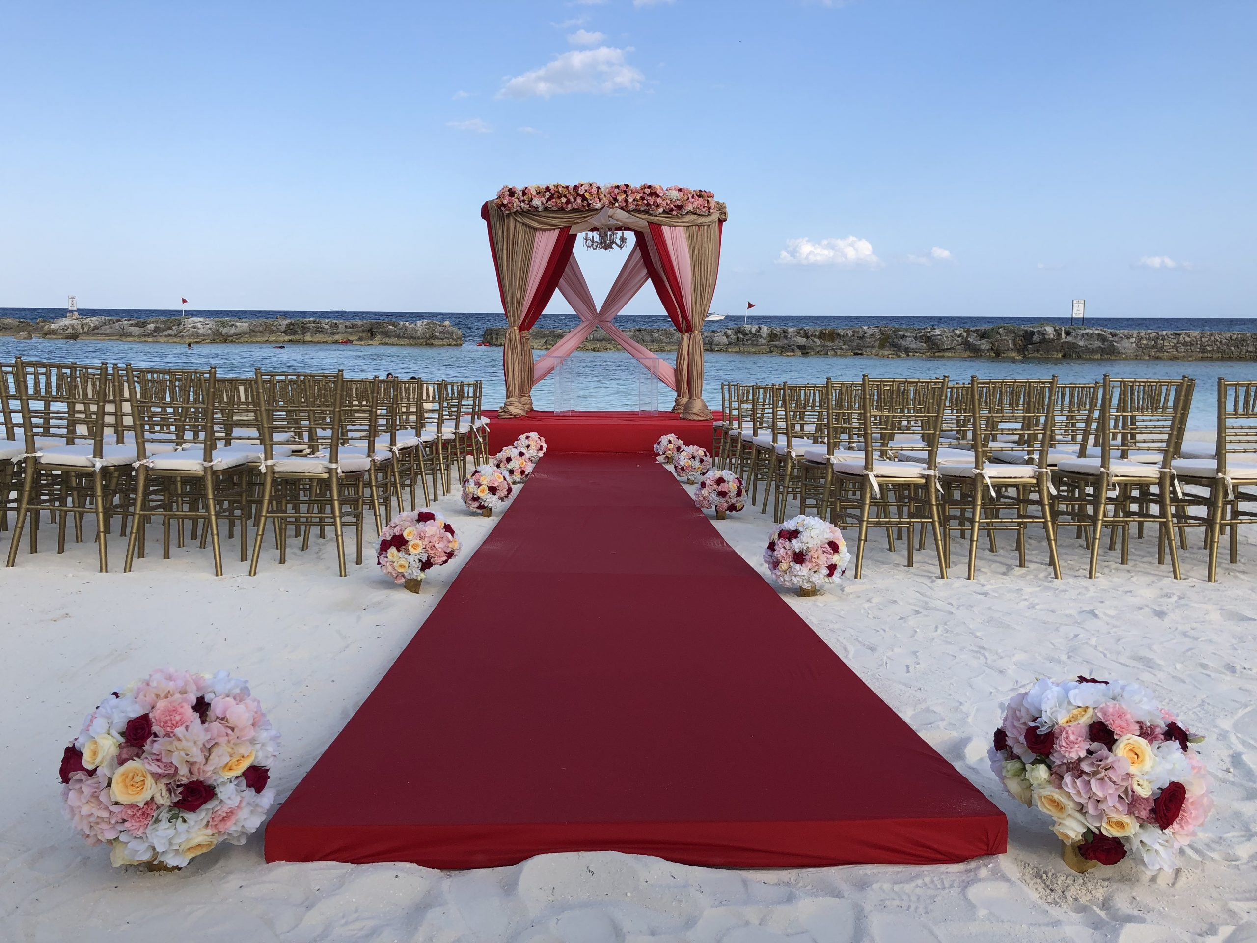 beach indian wedding ceremony package set up mexico by latin asia