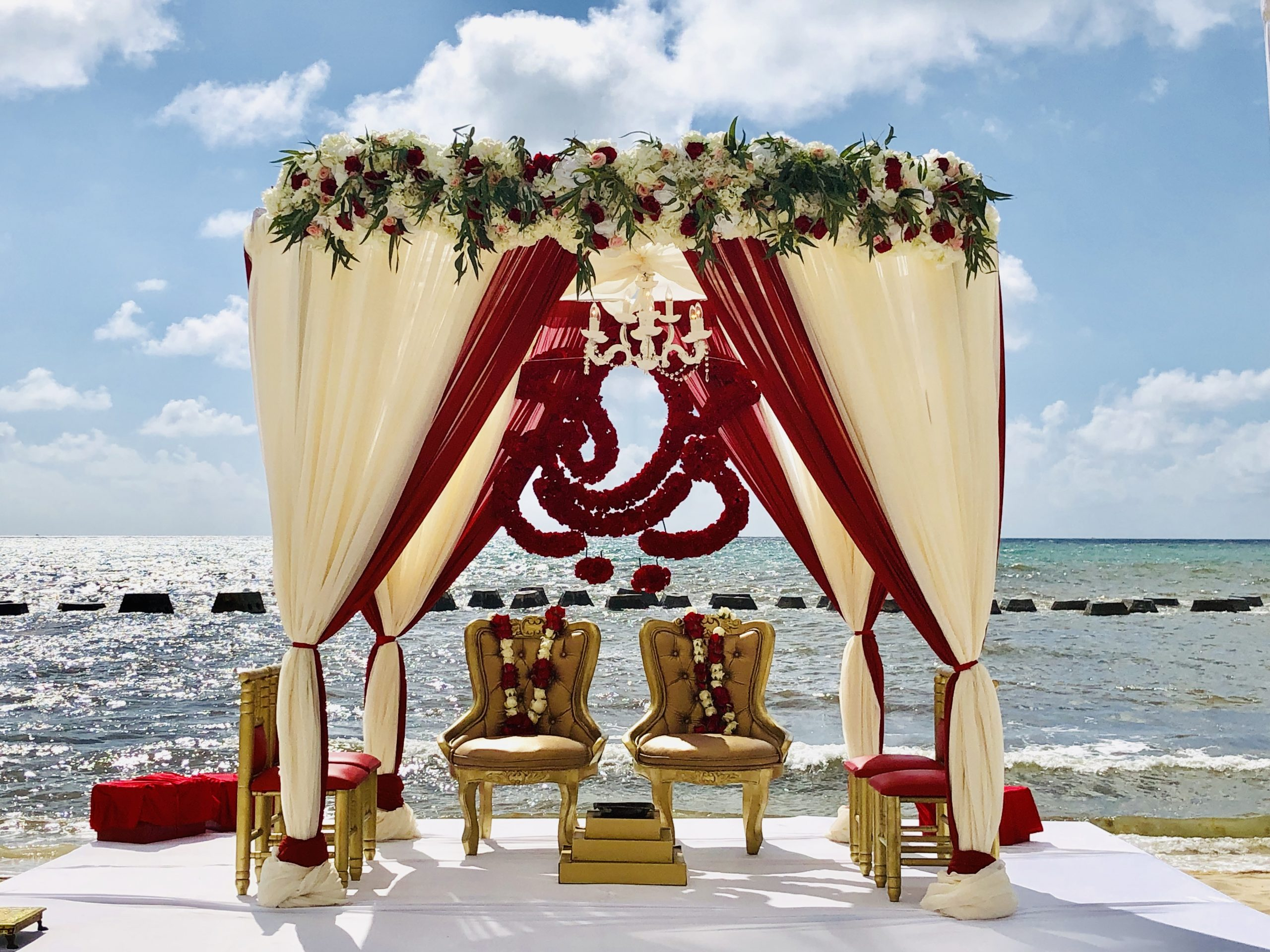 destination beach indian wedding ceremony package riviera Maya mexico by latin asia one stop solution