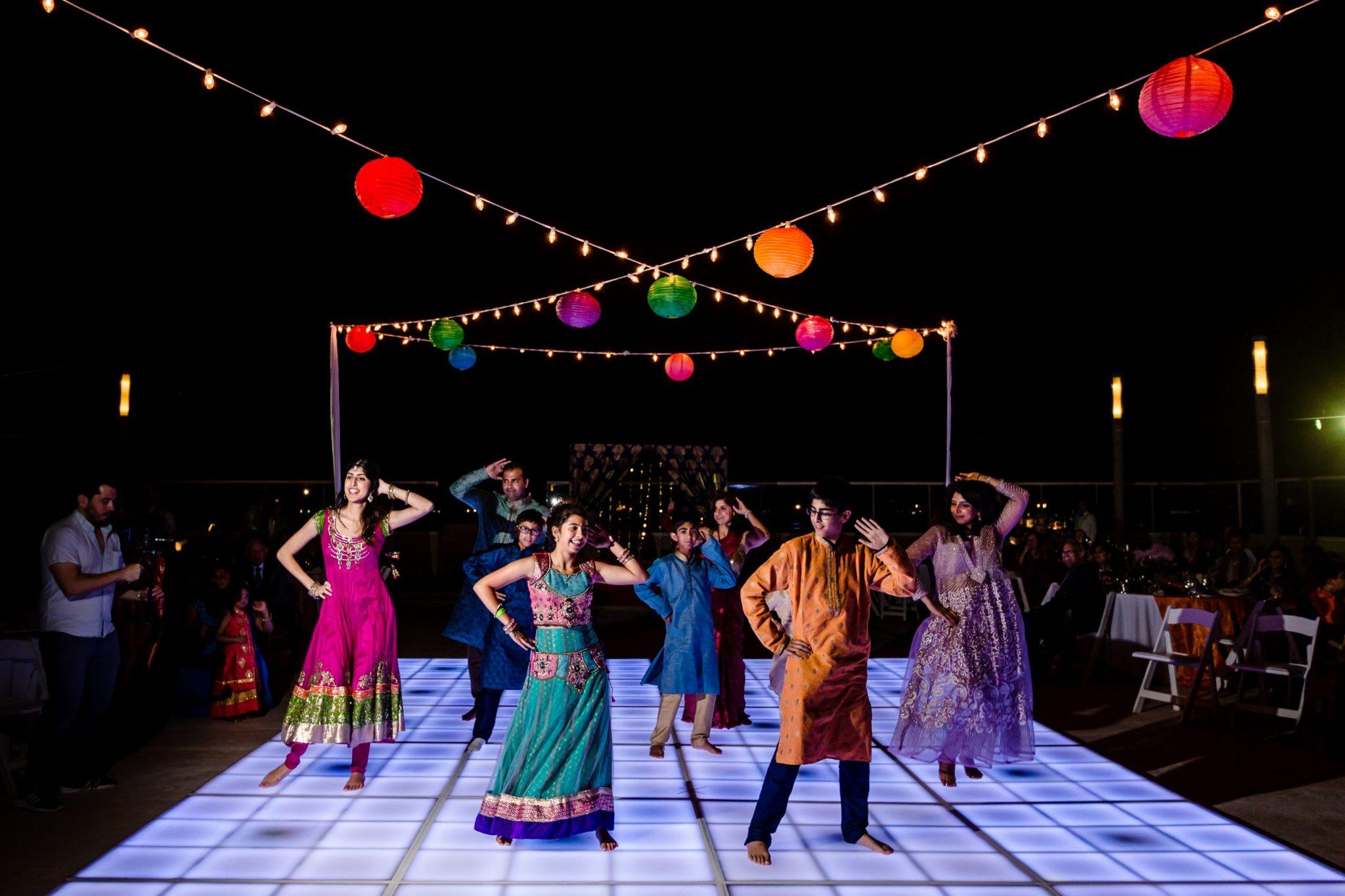 sangeet party ismaili destination wedding