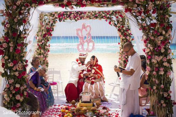 hindu mandap wedding ceremony packages on the beach mexico by latin asia