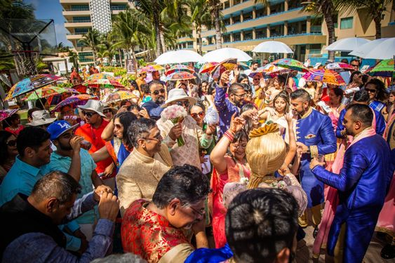 Baraat celebration in mexico riviera maya hotel in Mexico by latin asia one stop solution
