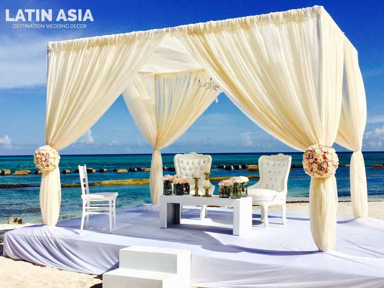 Beach venue for a hindu wedding in Mexico by latin asia one stop solution