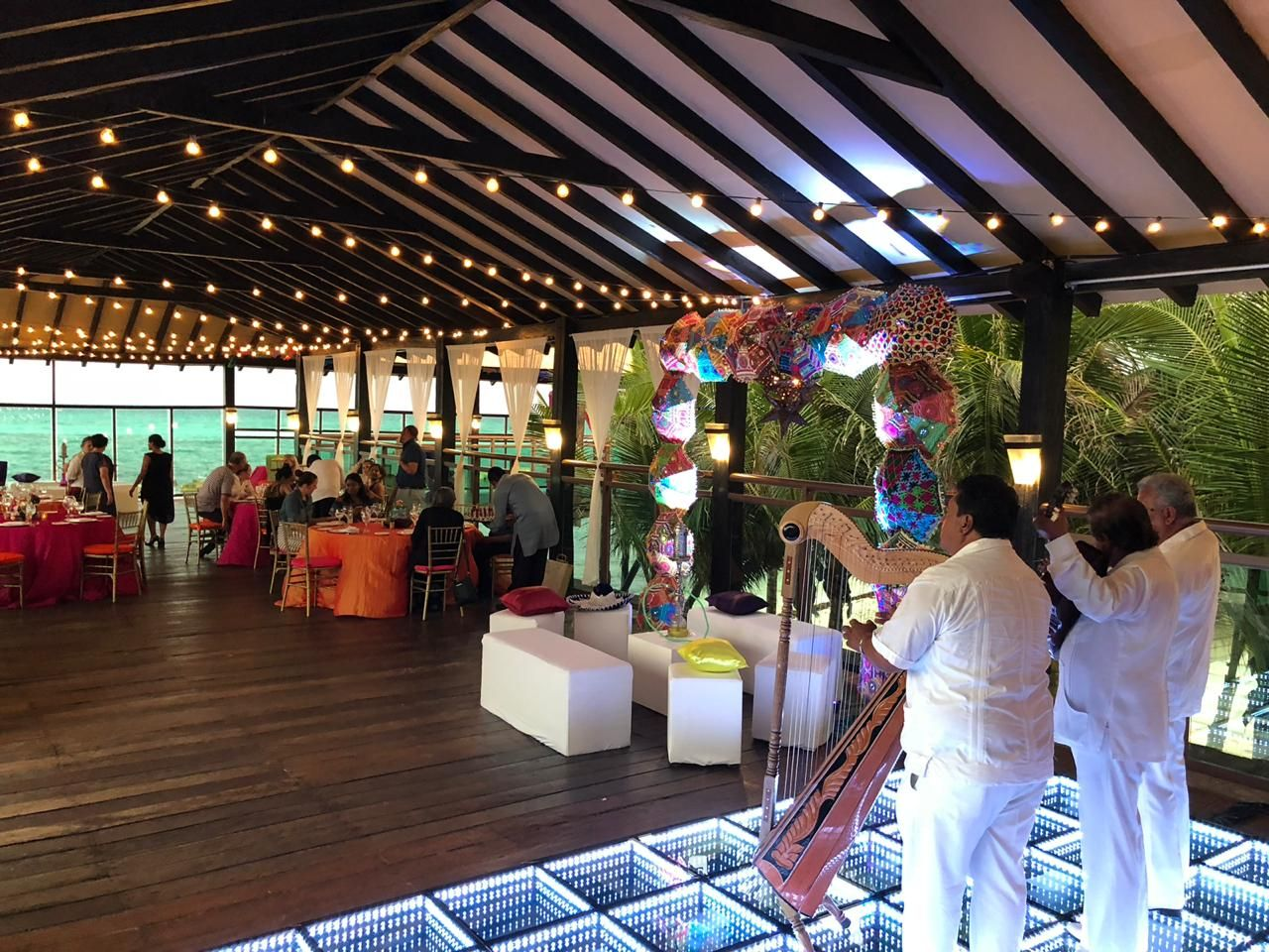 Decor cost for a sangeet event in generation riviera maya mexico by latin asia one stop solution