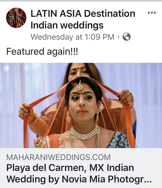 Cost of Destination Indian fabulous weddings in Playa del Carmen