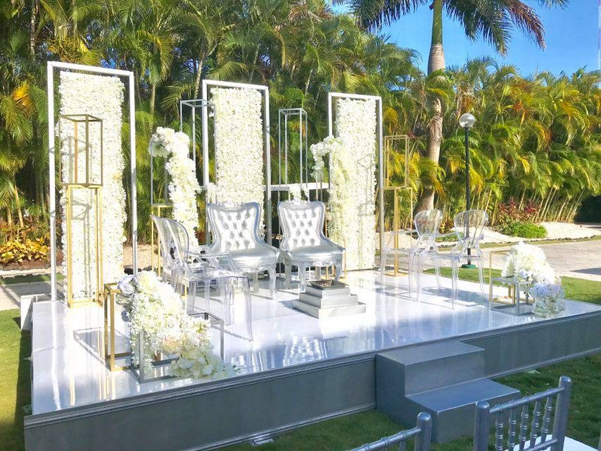 Garden venue for an hindu weddings in riviera maya by latin asia one stop solution