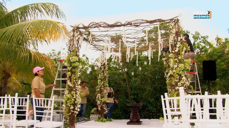 Cost of Gazebo with natural flowers for a destination Indian weddings in Mexico