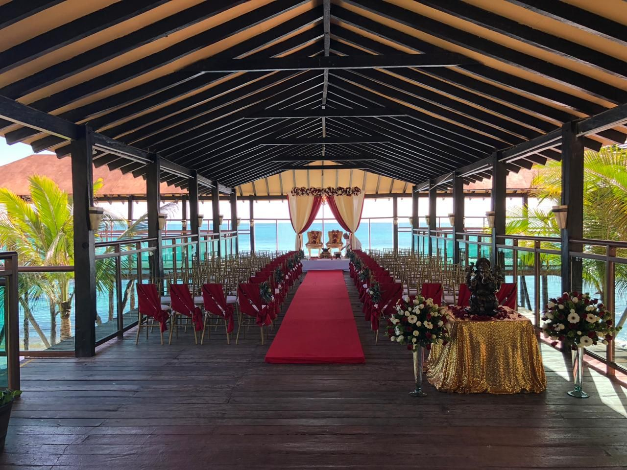 Pier venue for an indian all inclusive wedding in riviera maya by latin asia one stop solution