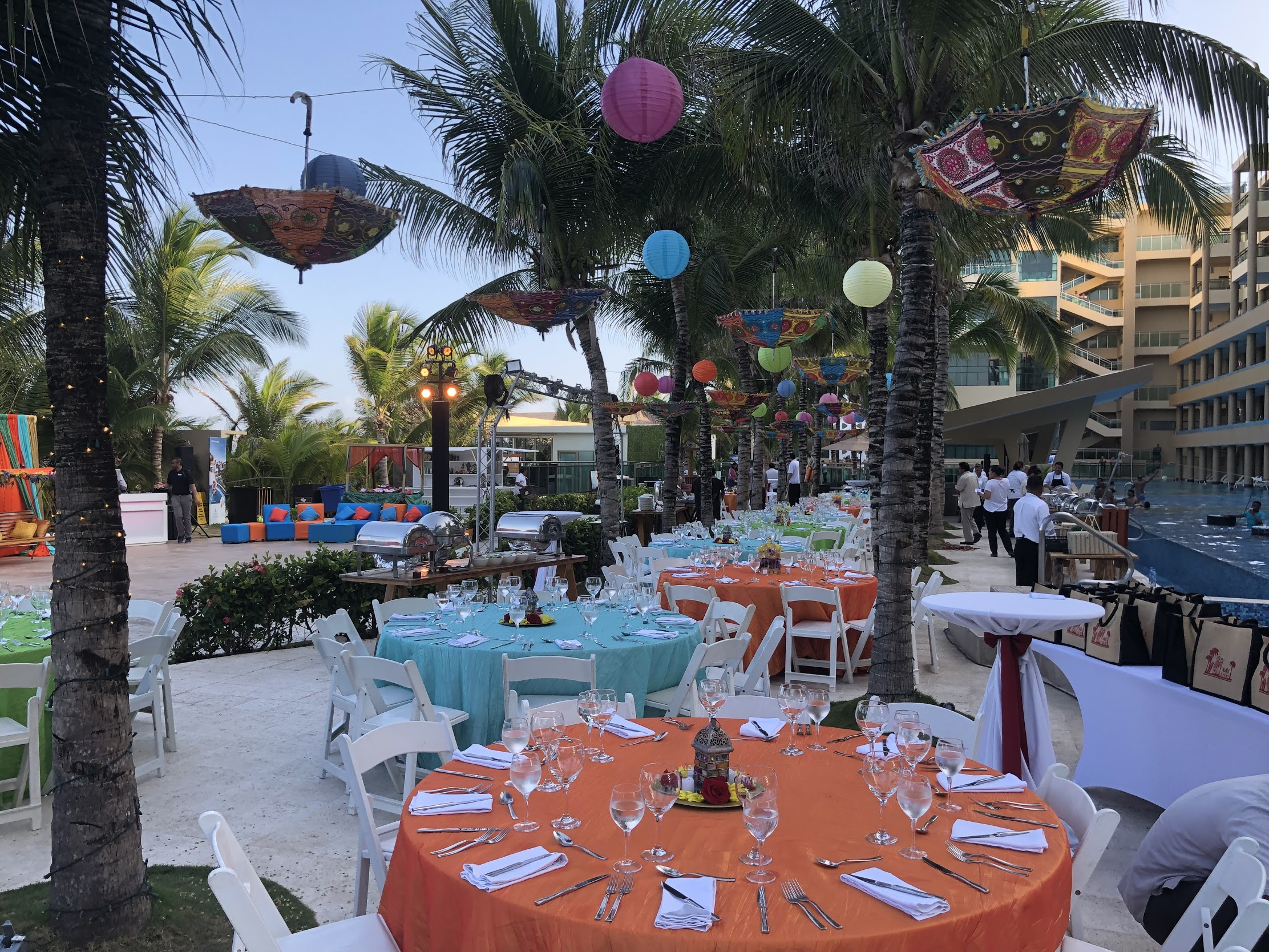 Mehndi and sangeet location for an indian destination wedding in generations riviera maya cancun by latin asia one stop solution