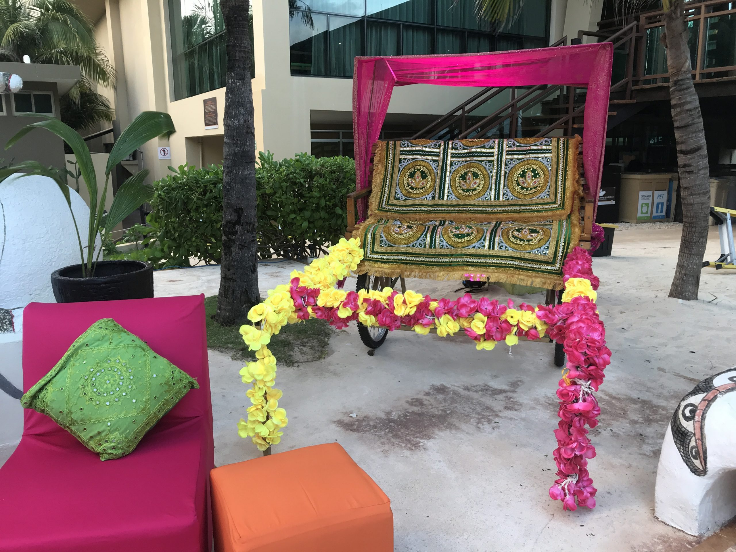 Rickshaw for an indian destination wedding in generations riviera maya cancun by latin asia one stop solution