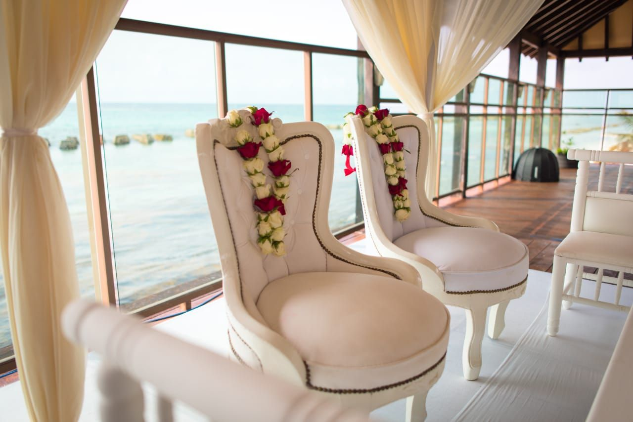 chairs for hindu destination wedding in riviera maya by latin asia one stop solution