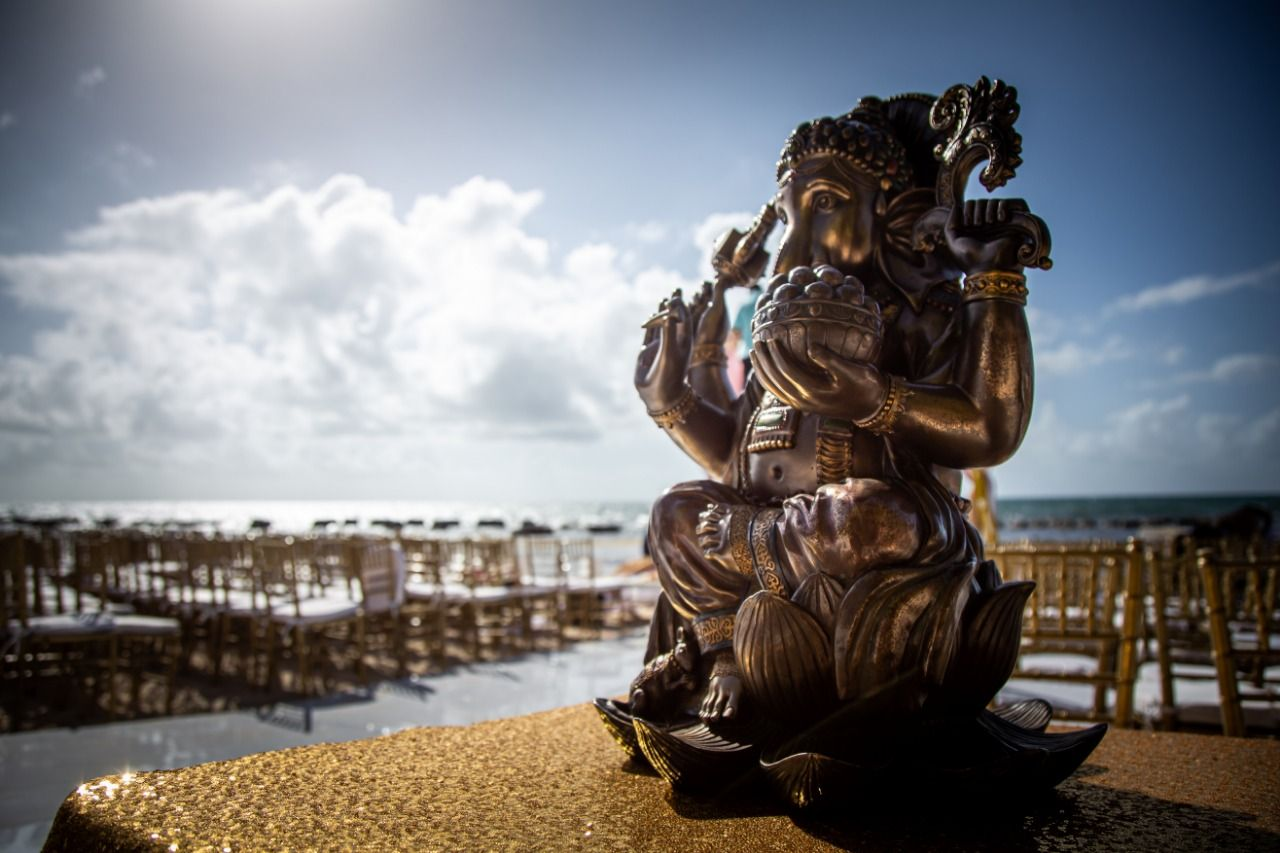 ganesh statue for hindu destination wedding in riviera maya by latin asia one stop solution