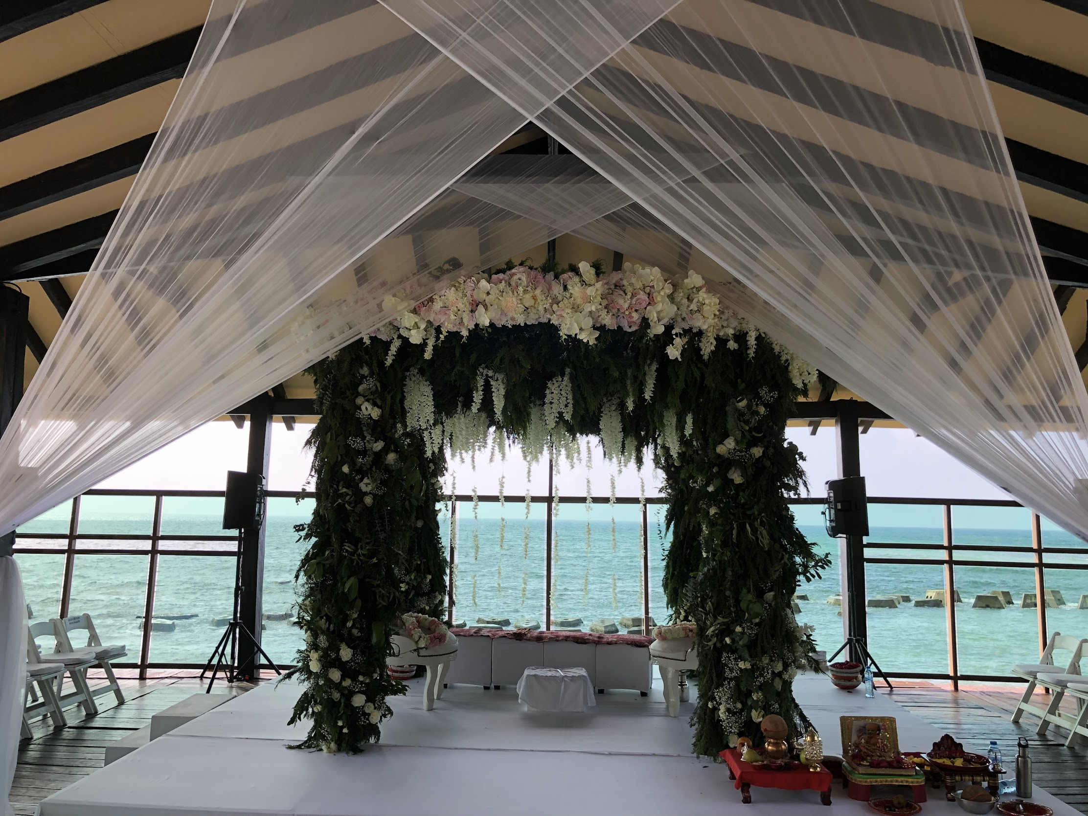 hindu wedding on the pier of generations riviera maya in mexico by latin asia one stop solution