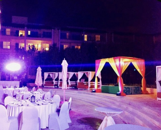 Sangeet decor cost for a hindu wedding by latin asia one stop solution
