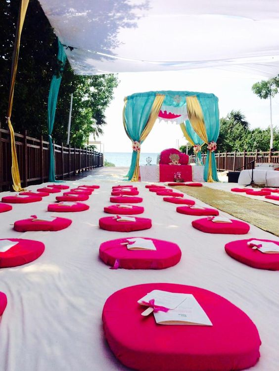 sikh palki wedding ceremony packages on the beach riviera maya mexico by latin asia
