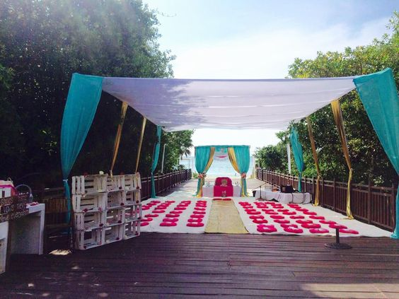 sikh palki wedding ceremony packages on the beach mexico by latin asia