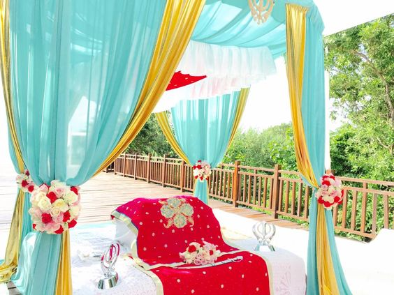 sikh weddding palki cost riviera Maya mexico by latin asia one stop solution