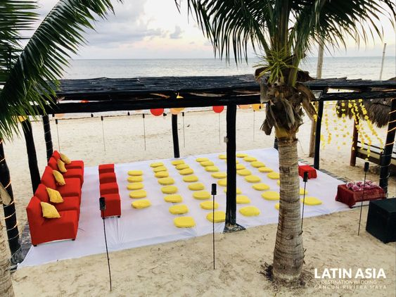 cost of pithi at palapa yoga for an indian destination weddings by latin asia one stop solution