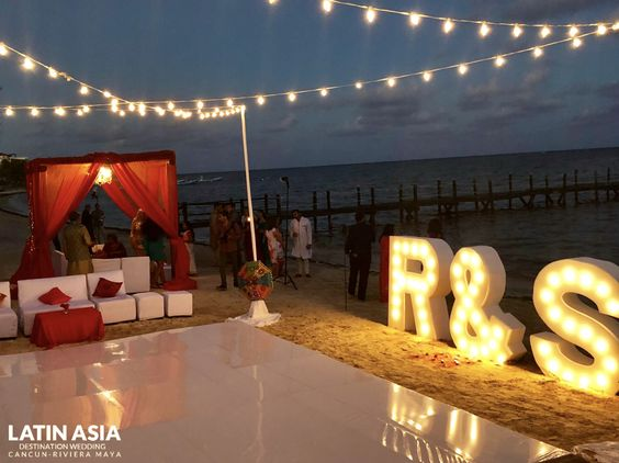sangeet night azul beach indian wedding packages in mexico