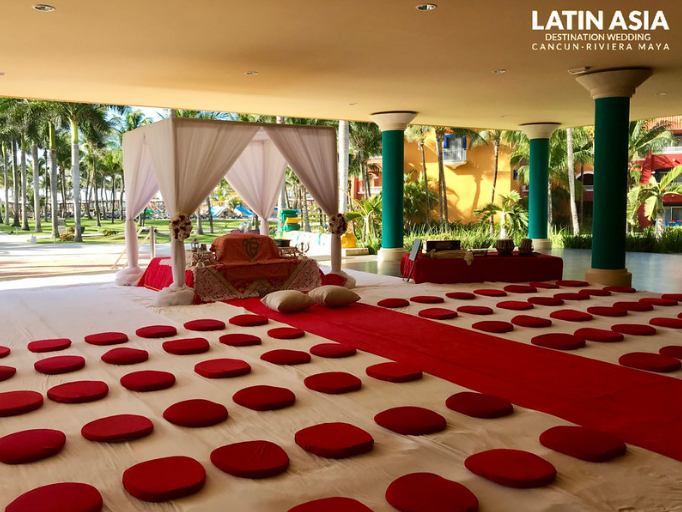 beach indian destination wedding ceremony by latin asia one stop solution