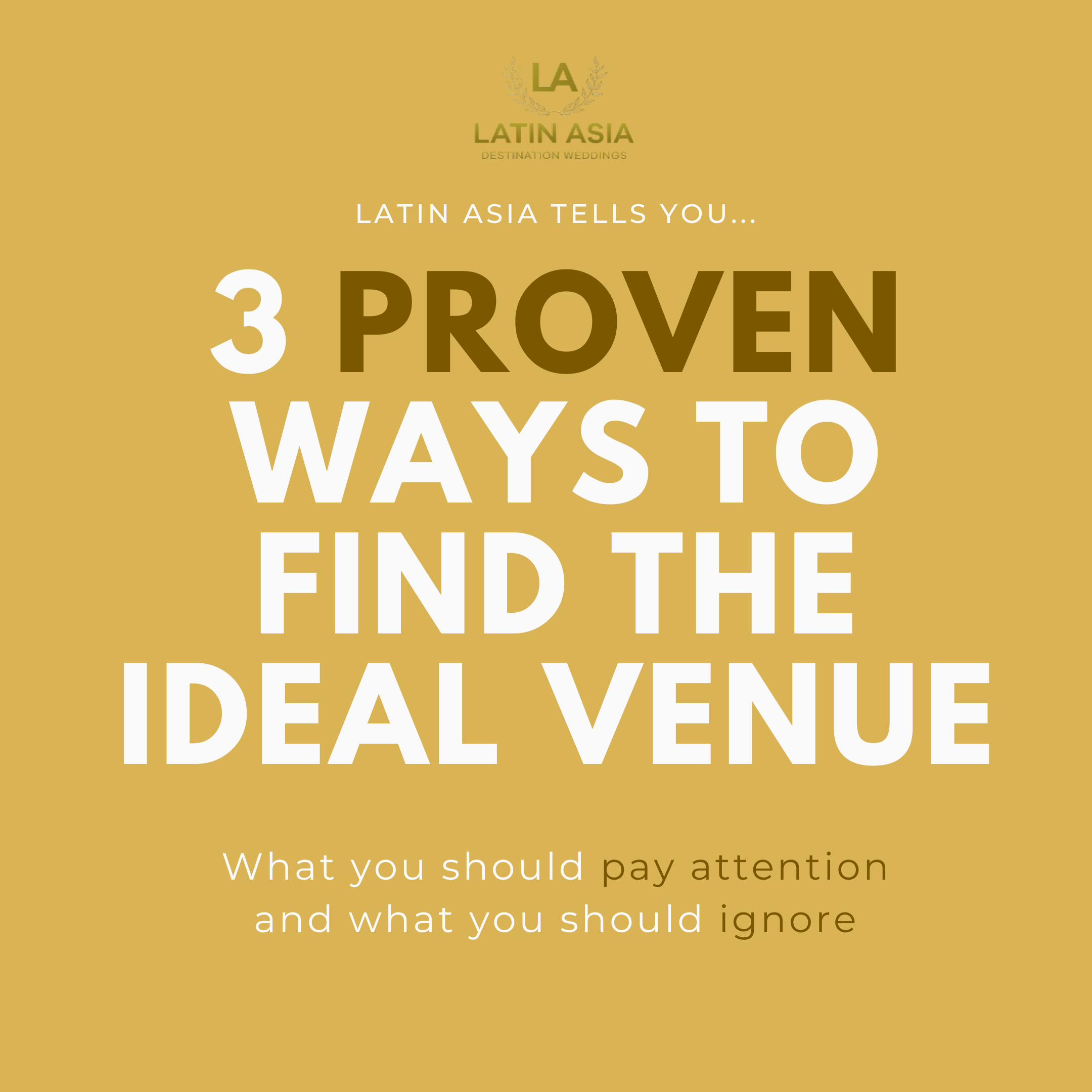 3 proven ways to find the ideal venue