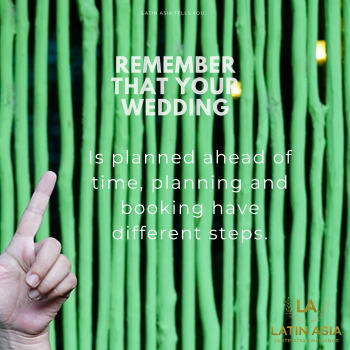 Ways to help you enjoy your wedding planning by latin asia one stop solution