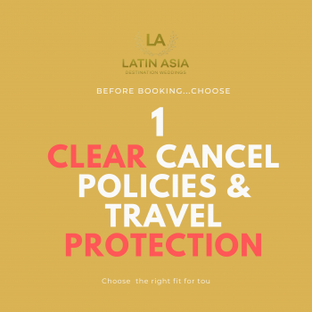tips after COVID clear cancel policies travel protection planning for a weddings book in cancun
