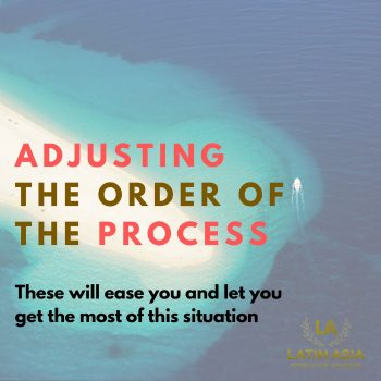 order of process planning for a weddings book in cancun