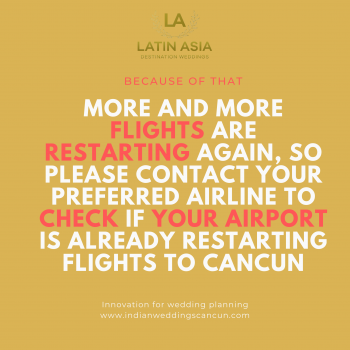 Air travel to mexico for destination indian weddings in Cancun Mexico