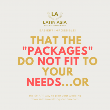 Latin Asia fit the package to your needs for your Wedding packages in mexico