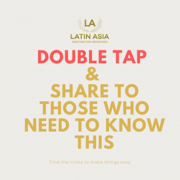 share and double tap latin asia tips and tricks planning a wedding after COVID