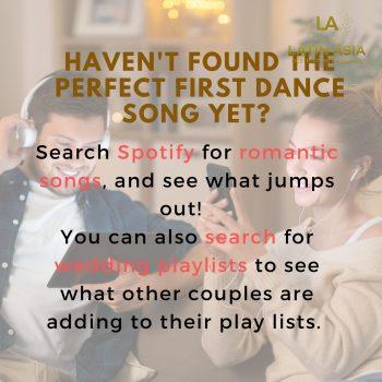 Search wedding playlists. Lockdown wedding planning