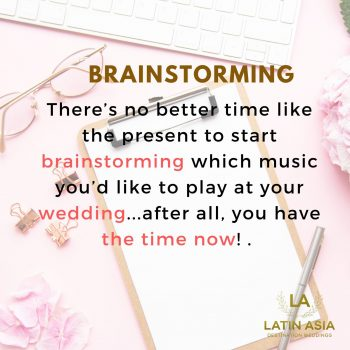 brainstorming wedding planning
