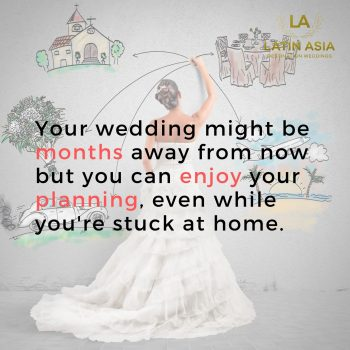 Enjoy planning at home. Lockdown wedding planning